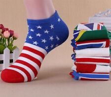 Men New Fashion Ankle Socks Low Cut Crew Casual Sport Color Cotton Socks 1 Pair