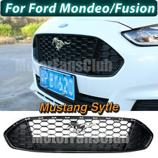 New Front Bumper Black Upper Grille Grill For Ford Fusion Mondeo 2013 2014 2015