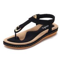 SOCOFY Women Summer Bohemia Slipper Flip Flops Lady Sandals Casual Shoes