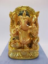 Ganesha Elephant God Gold Statue 100mm Gift Box (Post or Local Pickup)