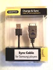 Griffin Charge Sync Cable for Samsung Players P2 S3 S5 T10 10023-SMSGCBL