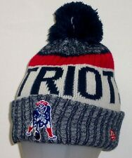 New England Patriots New Era Official Sideline Throwback Logo Sport Knit Hat