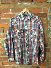 AUTHENTIC VINTAGE WESTERN SHIRT BY WRANGLER MULTI CHECK USA (w41) SIZE M