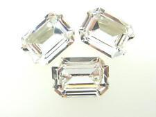 Swarovski Foiled Octagon Stones Art.4610 18x13mm Crystal 3 Pieces cc