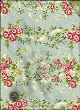"""Savannah"" Floral Print on pale baby blue Fabric by Michelle Blackhurst-Windham"