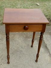 ANTIQUE SUPER WALNUT ONE DRAWER NIGHT STAND LATE 1800'S NICE CONDITION