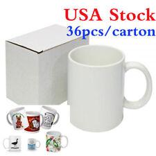 Us 36pcs Blank White Mugs Aaa Grade 11oz Sublimation Printing Orca Coating Mugs