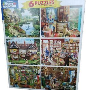 White Mountain Steve Crisp Americana Multi Pack 6 in 1 Jigsaw Puzzles NEW