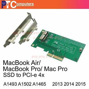 Apple MacBook  Air 16+12 SSD to PCIE PCI-e  Converter 2013/2014/2015