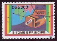 SAO TOMÉ UND PRINCIPE 1991 Eilmarke 3000 Db, gest. ABART: Passerverschiebung