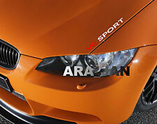 V6 SPORT Vinyl Decal sticker racing speed car emblem logo hood sticker WHITE/RED