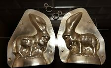MULE DONKEY BURRO ESEL CHOCOLATE TIN PEWTER METAL MOLD MOULD VINTAGE ANTIQUE