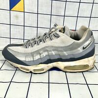 Nike Air Max 95 2005 Metallic Silver Low Lo Top Trainers Size UK 8 EU 42.5 US 9
