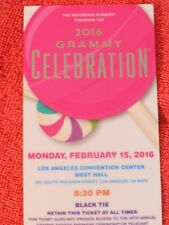 CELEBRATION PARTY TICKET KEEPSAKE 58TH GRAMMY AWARDS 2016 CANDY THEMED