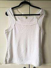 Women's White Monsoon square neck top size L/ 14-16
