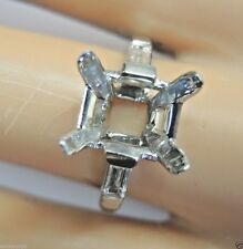 Antique Vintage Engagement Setting Platinum Hold 10x8MM Art Deco Ring Size 5.25