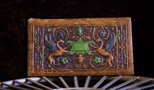 BEAUTIFUL VINTAGE EMBOSSED FRONT COVER DEPICTING TWO GRIFFINS