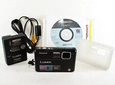 Panasonic LUMIX DMC-TS10 Shock & Waterproof Digital Camera w/2 Batteries & More