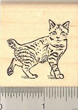 American Bobtail Cat rubber stamp G10702 Wm