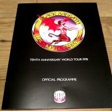 Black Sabbath 10 Year War Box Set -  1978 Replica Tour Program