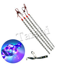 HOT 30cm 12V Red 4 X High Power Car Motor Flexible LED Light Strip Waterproof