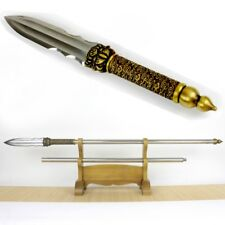 Refinings pattern steel Spearhead Sword blade Overlord Spear pike lance #079