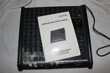 Samick SM-820 Mixing Console & Instruction Booklet 120V 50/60Hz Works Vintage