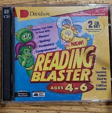 Vintage Reading Blaster Ages 4-6 Pc (2 Cd set) kids learning game Cd-Rom Bx-E
