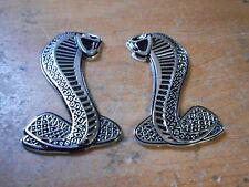 Ford Mustang Shelby Cobra Torino Cobra Svt Fender Snake Emblems Pair Set L/R