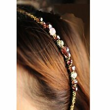 Women Chic Metal Rhinestone Crystal Head Piece Chain Jewelry Headband Hair Band
