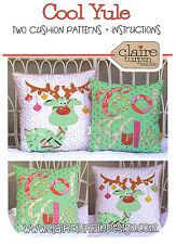 Cool Yule Cushion PATTERN - Claire Turpin - 2 x Applique Cushion Pattern