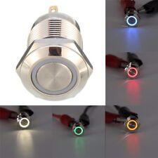 Excellway® LED Drucktaster Gelb Druckknopf Taster Push Button 12mm Auto u.s.w