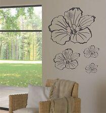 Wandtattoo Wandaufkleber Hibiskusblüten Motiv: E024