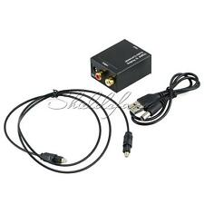 3.5mm Digital Optical Coaxial Coax Toslink to Analog Audio Converter Adapter RCA