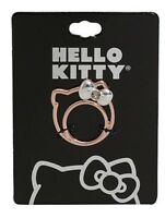 Sanrio Hello Kitty Rose Gold Tone Bling Silhouette Ring Size 7