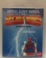Custom Lego Spider-man Secret Wars mini figure with clamshell display box