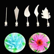 5PC Flower 3D Jello Jelly Art Needles Tools Jelly Cake Gelatin Pudding Nozzle ET