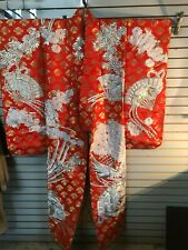 Vintage Red Silk Kimono in Original Box