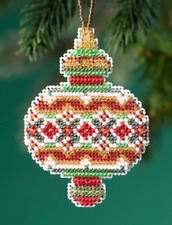 MILL HILL HOLIDAY ORNAMENTS Beaded Cross Stitch Kit RUBY DIAMOND 1913