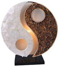 Tischlampe YING YANG NATUR, rund, Natur-Material, Höhe ca. 30 cm, Deko-Leuchte