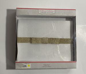 Wedding Collection Gartner Studios Gold Glitter Bow Guest Book Designed In USA