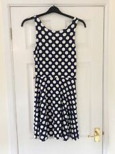 Regular Size Casual Spotted Midi Dresses for Women