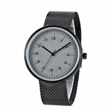 Men's Full Stainless Steel Quartz Watch Unique Thin Design Minimal Wristwatch