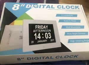 Dementia Clock, Calendar 8 Inch Digital
