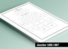 PRINTED ZANZIBAR [BRITISH] 1895-1967 STAMP ALBUM PAGES (25 pages)