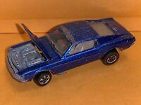 Hot Wheels Original Redline Blue Custom Mustang Rare Base 1969
