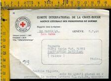 WW 2 Militare Posta Prigionieri Croce Rossa x Sant' Angelo Lodigiano Lodi I 913