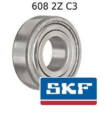 SKF 608-2Z Deep Groove Roller Bearings, 8x22x7, 2 Side Metal Seals