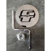 GT Power Series BMX Bicycle 1 Piece Crank Chrome Full Set Cr-Mo 44 Teeth