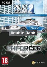 La ley y el orden Doble Pack-Enforcer y la policía Simulador 2 (Pc Dvd) Nuevo Sellado